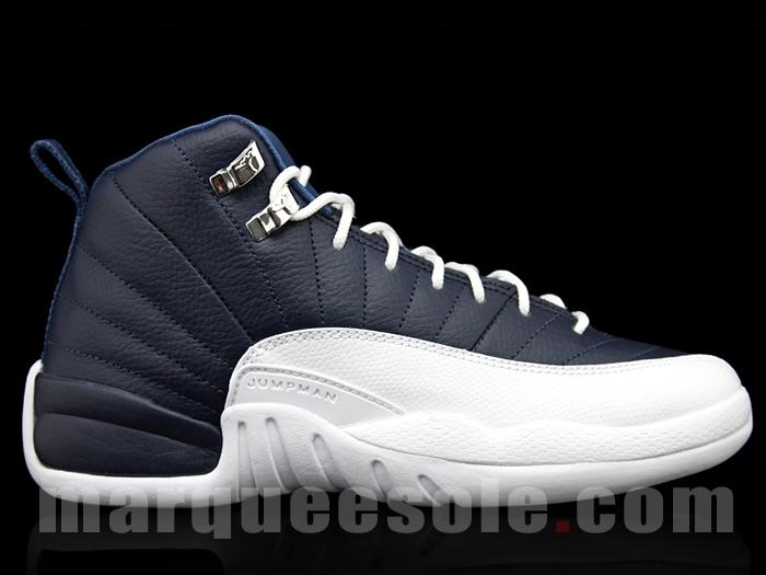 size 40 a141b bfa1c Air Jordan 12 (XII) Retro Color  Obsidian White-French Blue-University Blue  Style  130690-410. Release  06 23 2012. Price   160.00