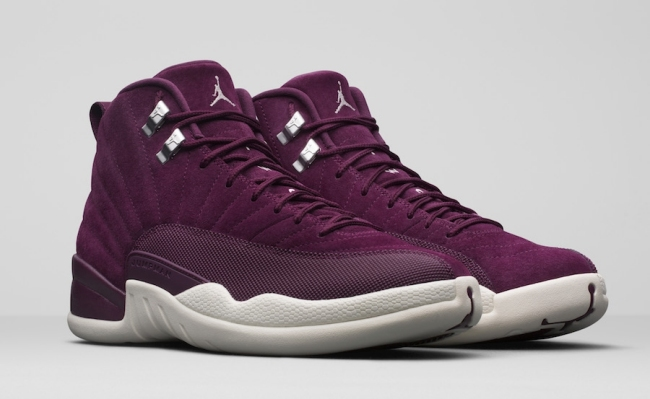 official photos f56c2 98020 Air Jordan 12 (XII) Retro Color  Bordeaux Metallic Silver-Sail Style Code   130690-617. Release Date  10 14 2017. Price   190.00