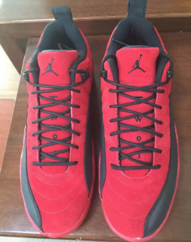 air jordan 12 low red suede