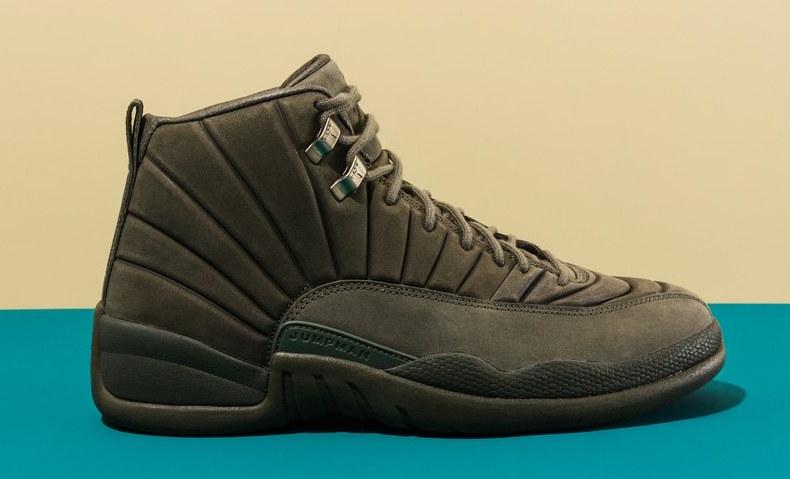 715b81a7bf0d52 Nike Mens PSNY Public School x Air Jordan 12 Retro Dark Grey Black  130690-003