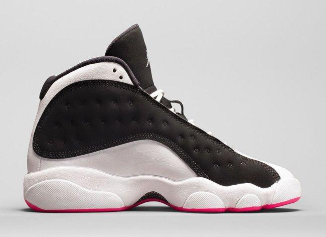 low priced b4394 d10b4 Nike Air Jordan Retro 13 XIII Wolf Grey GS 439358-018 Deadly Pink Hyper Pink