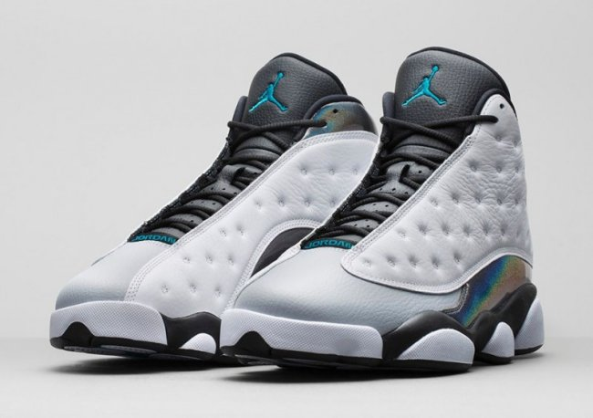 603c68738ef4 Air Jordan 13 (XIII) Retro Color  White Tropical Teal-Black-Wolf Grey  Style  414571-115. Release  10 25 2014. Price   185.00