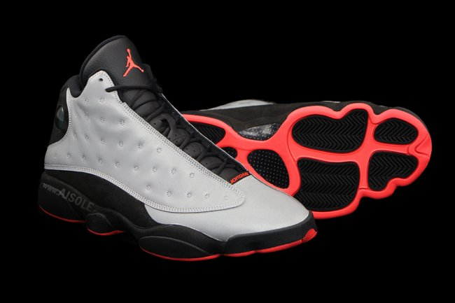 Air Jordan 13 (XIII) Retro Color  Reflective Silver Infrared 23-Black  Style  696298-023. Release  10 04 2014. Price   185.00 b983bb515