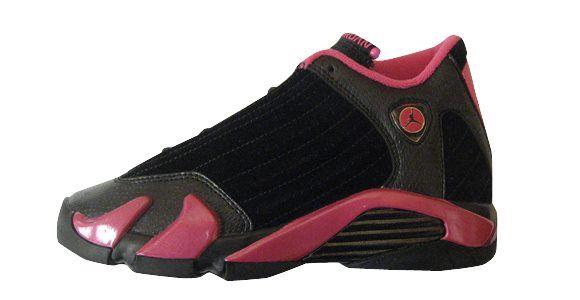 41569a99433679 Nike Girls Women Air Jordan 14 XIV Retro GS Black Desert Pink 7Y 2011