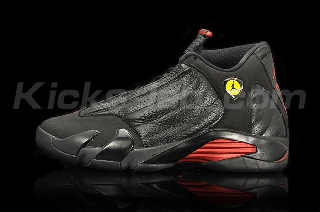 63f09cfde87274 Nike Air Jordan Retro XIV 14 Last Shot Black Varsity Red Size 11 og all