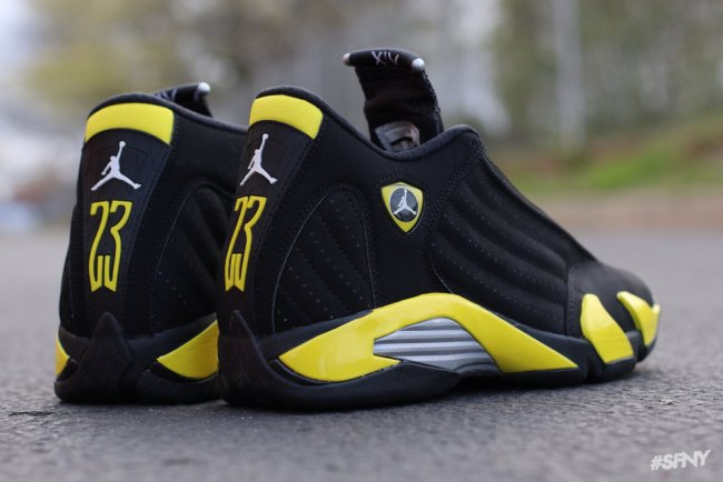 3b2de756e06666 Air Jordan 14 (XIV) Retro Color  Black Vibrant Yellow-White Style   487471-070. Release  07 04 2014. Price   170.00