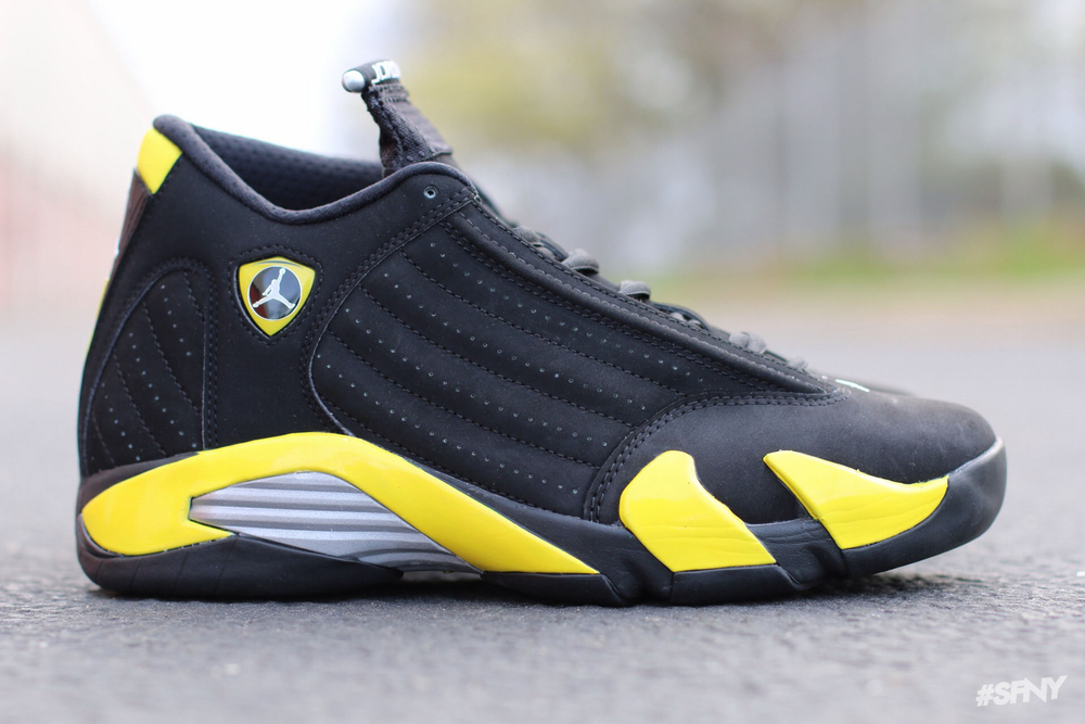 Black and yellow jordans 2014 color black vibrant yellow
