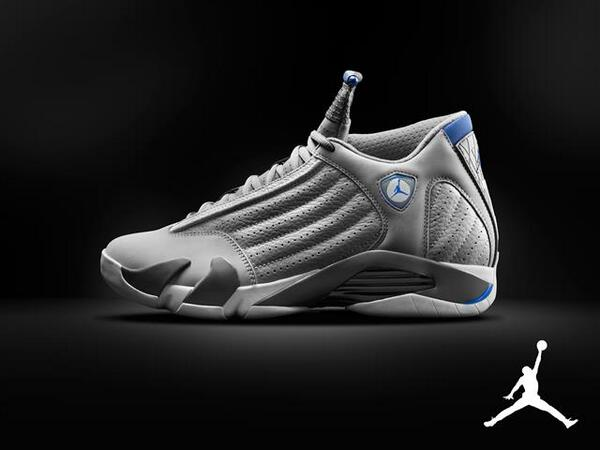 sports shoes 83e3f 343a5 The Wolf Grey White-Sport Blue Air Jordan 14 Retro is scheduled to release  on August 2 at the price of  170.