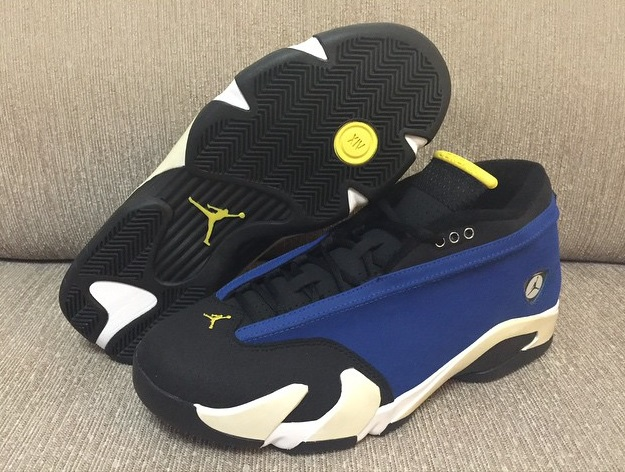 1a5fdbe2c06b1b Matching black laces ensure a snug fit at all times. The Air Jordan XIV  Retro Low Laney will release in stores on October 3