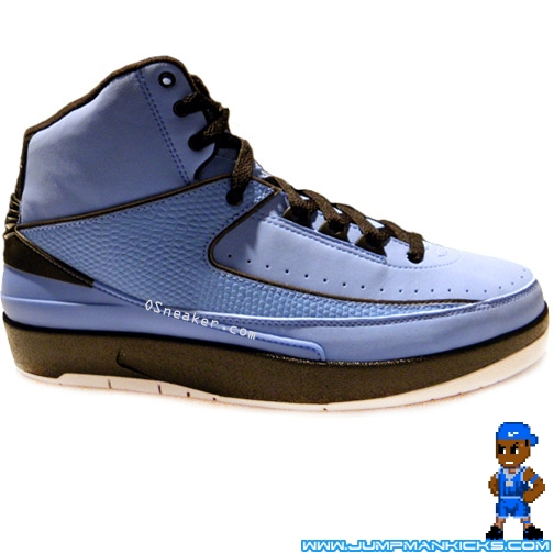 pretty nice f860f 7b1d1 Nike Air Jordan II 2 Retro 395709 401 University Blue Black White Size 8.5  with
