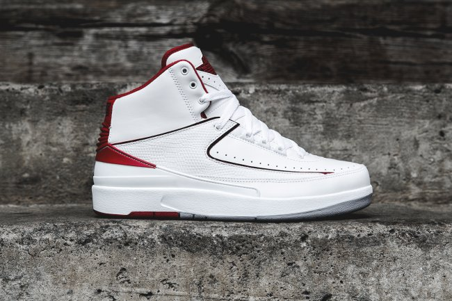 new arrival b9d36 0e008 Air Jordan 2 (II) Retro Color  White Black-Varsity Red-Cement Grey Style   385475-102. Release  06 07 2014. Price   150.00
