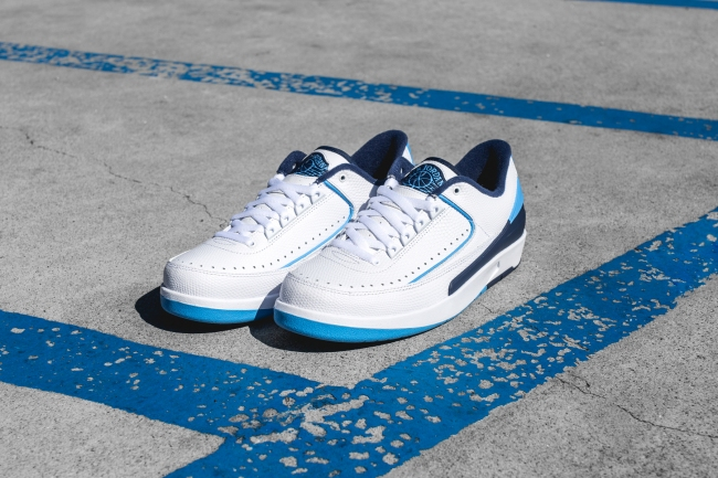 ede6d546812 Air Jordan 2 (II) Retro Low Color: White/Midnight Navy/Infrared 23-University  Blue Style: 832819-107. Release Date: 06/11/2016. Price: $160.00