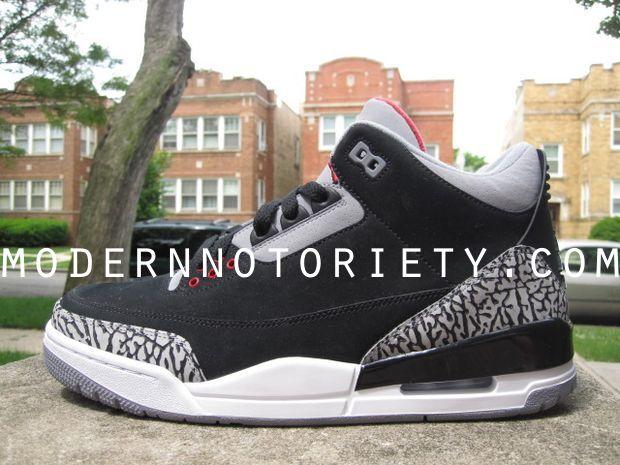 """super popular 504c7 395ad Air Jordan III Retro 2011 Black Cement """"Nubuck"""" Sample"""
