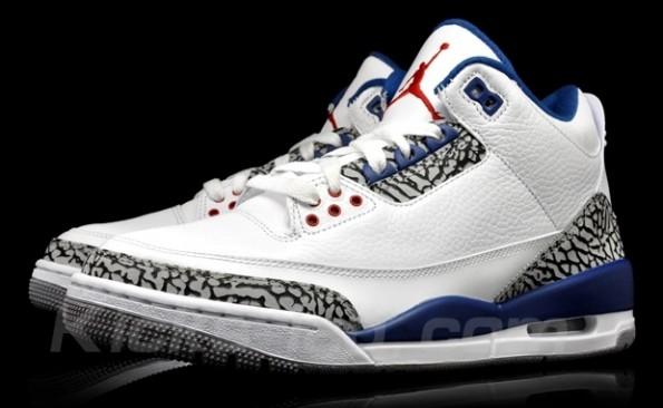 46cceca409ae Air Jordan 3 Retro Color  White   True Blue Style  136064-104. 136064-104  Authentic Air Jordan 3 III Retro True Blue 2011 Release