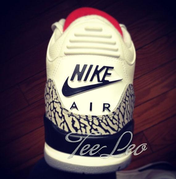 "9dbe18b683ee77 Nike Air Jordan 3 Retro III Retro 88 ""White Cement"" 2013 Size 10.5"