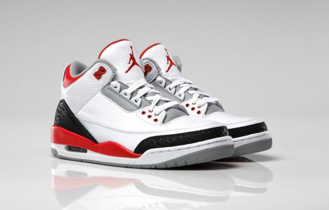 size 40 f42b0 8069b Air Jordan 3 (III) Retro Color  White Fire Red-Silver-Black Style  136064- 120. Price   160.00