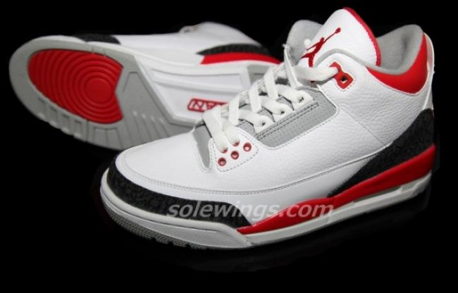 newest f258a 9c138 Air Jordan 3 (III) Retro Color  White Varsity Red-Cement Grey Style   136064-120. Release  08 03 2013. Price   160.00
