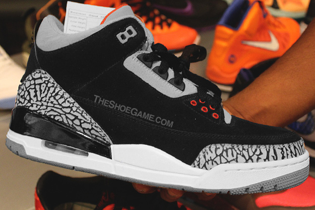 22558fe34a49 Nike Air Jordan 3 III Black Cement Men Size 9.5 2011 White Bred Mocha  Katrina
