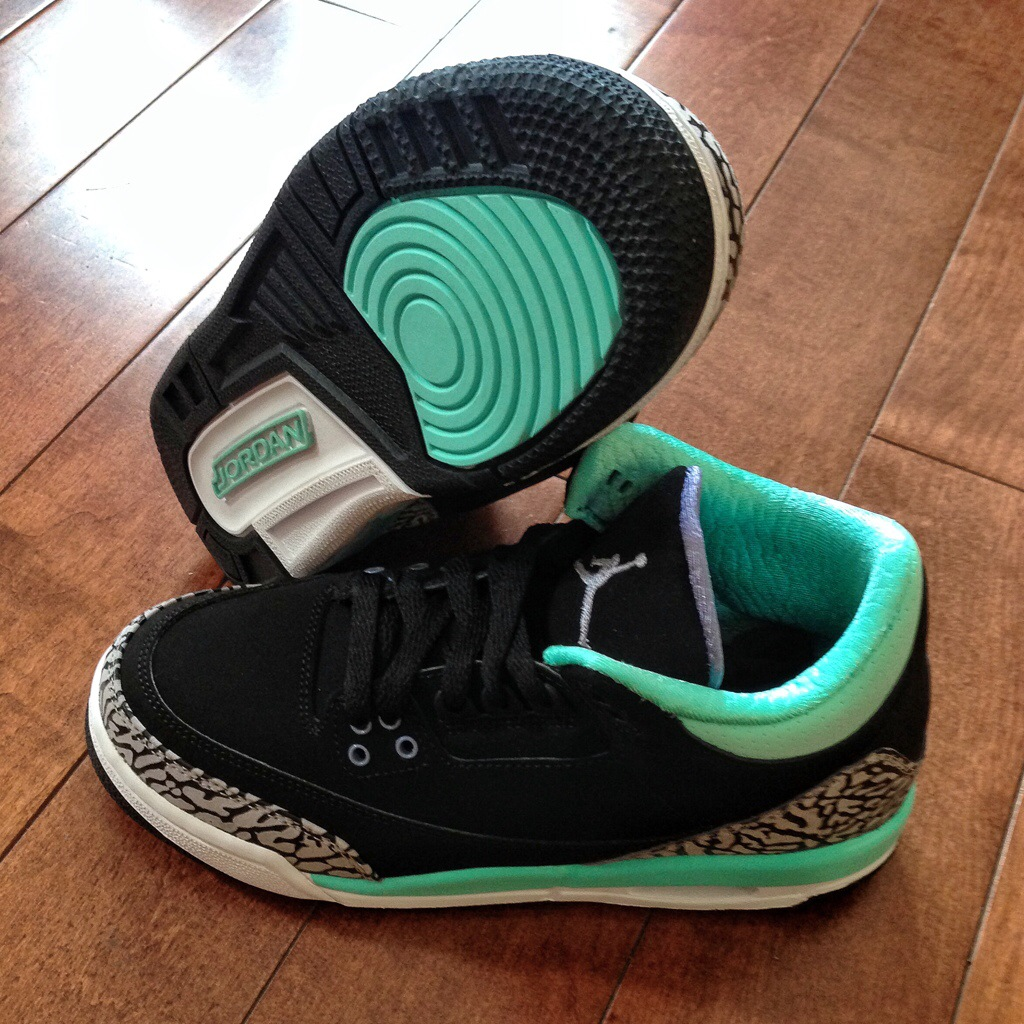 60be22bda61559 Air Jordan 3 (III) Retro Color  Black Iron Purple-Bleached Turquoise-Wolf  Grey Style  441140-045. Release  08 09 2014. Price   120.00