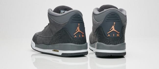 air jordan 3 dark grey