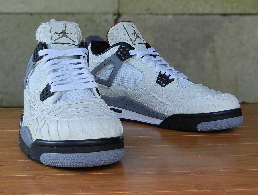"new concept da586 85c62 Air Jordan IV (4) ""White Python"" by JBF Customs"