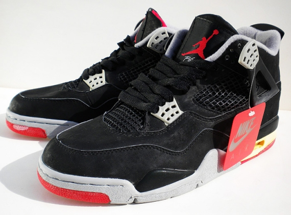 new concept 81dc0 70e77 ... reduced air jordan 4 iv retro color black fire red cement grey style  308497 089.