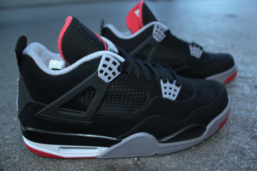 Air Jordan IV Retro Black Cement Grey-Fire Red - New Images 74199eba8