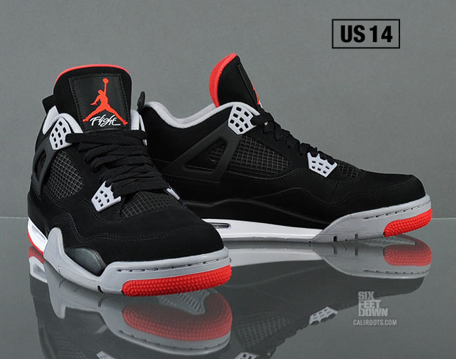 black air jordan retro 4