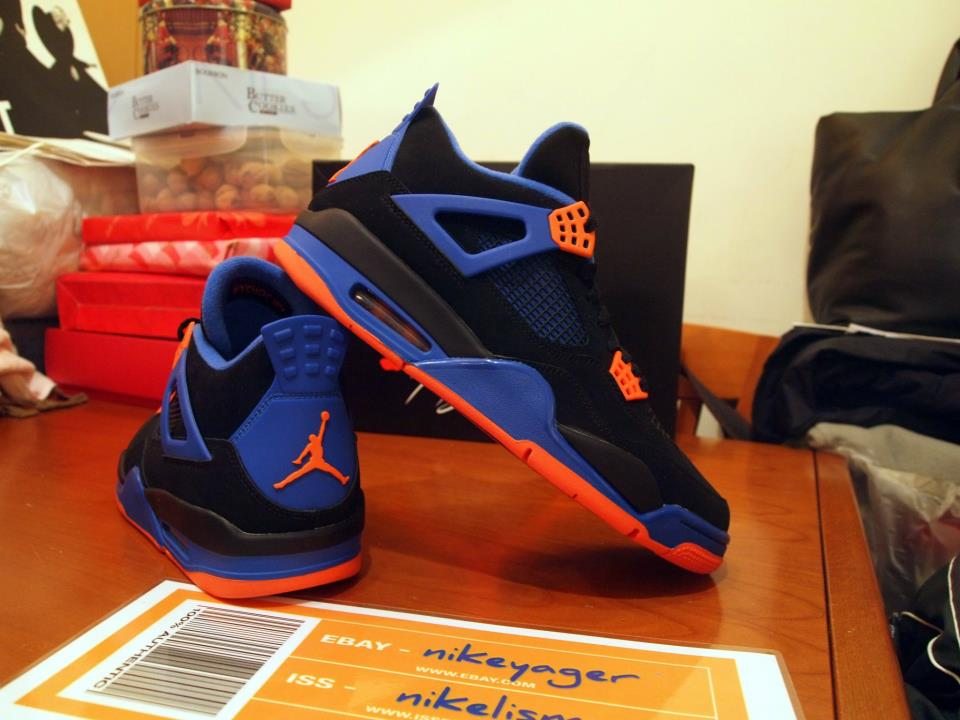 online store 703a5 23f75 Nike Air Jordan Cavs IV 4 308497 027 Knicks Cavaliers Size 11 Black Orange