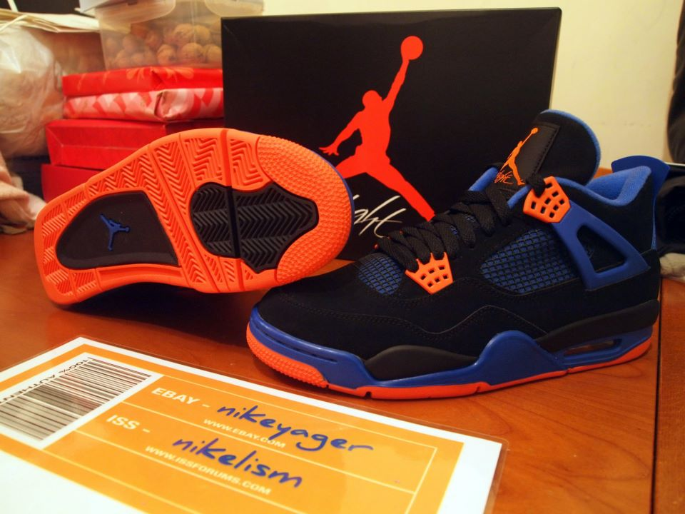 online store 88574 f2817 Nike Air Jordan Cavs IV 4 308497 027 Knicks Cavaliers Size 11 Black Orange
