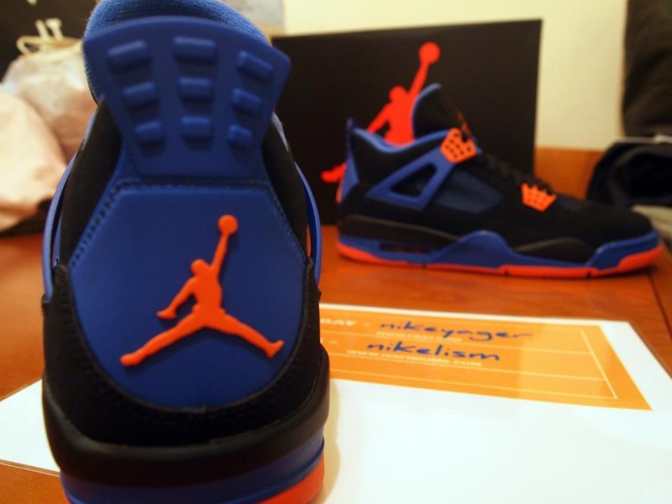 online store 8041e 84915 Nike Air Jordan Cavs IV 4 308497 027 Knicks Cavaliers Size 11 Black Orange