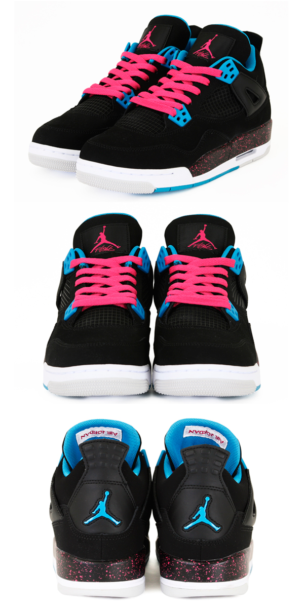 release date: d76ae b5b51 Air Jordan IV Retro GS - Black/Dynamic Blue-Vivid Pink ...