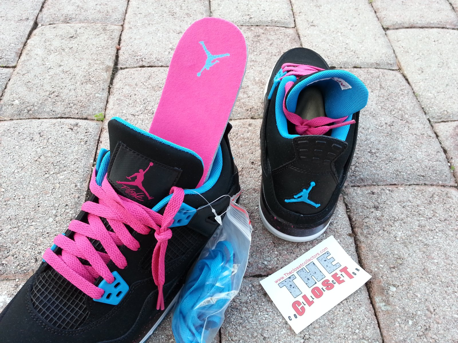 513fe4946ee Air Jordan 4 (IV) Retro GS Color: Black-Dynamic Blue-Vivid Pink-White  Style: 487724-019. Release: 11/17/2012. Price: $110.00?