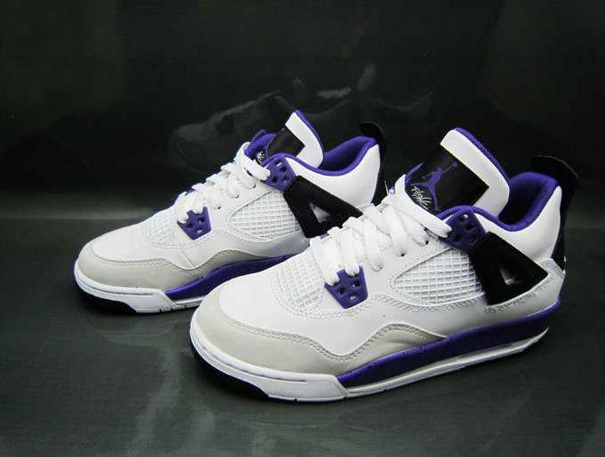 fad183241d87 Air Jordan IV Retro GS - White Ultraviolet-Black