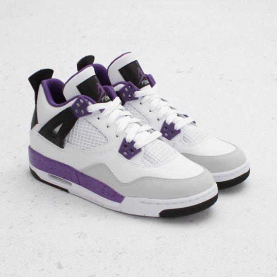detailed look 4a7cf fc75a Air Jordan 4 (IV) Retro GS Color  White Ultraviolet-Neutral Grey Style   487724-108. Price   110.00 – Gradeschool  70.00 – Preschool  50.00 – Toddler
