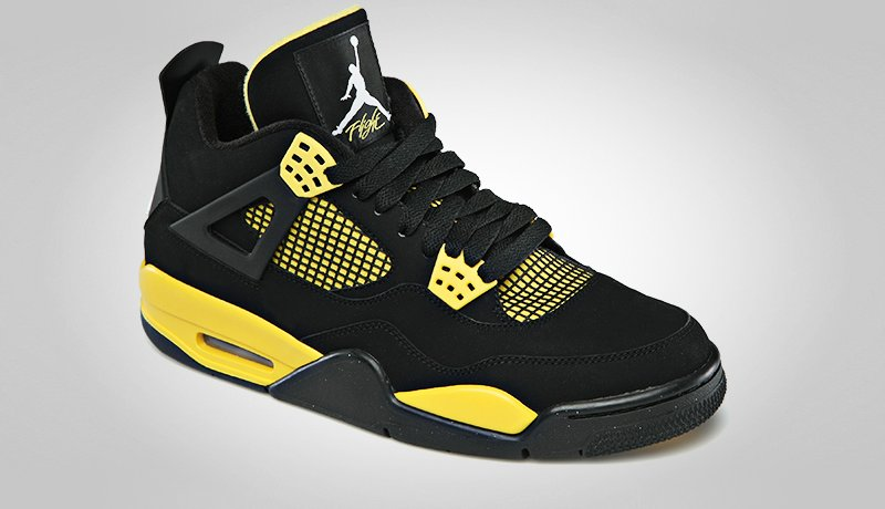 air jordan 4 yellow black