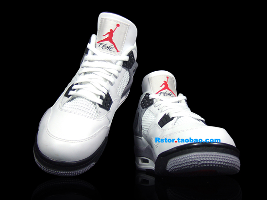 new concept b8c54 70453 Air Jordan IV (4) Retro Color  White Black-Cement Grey Style  308497-103.  Price   160.00
