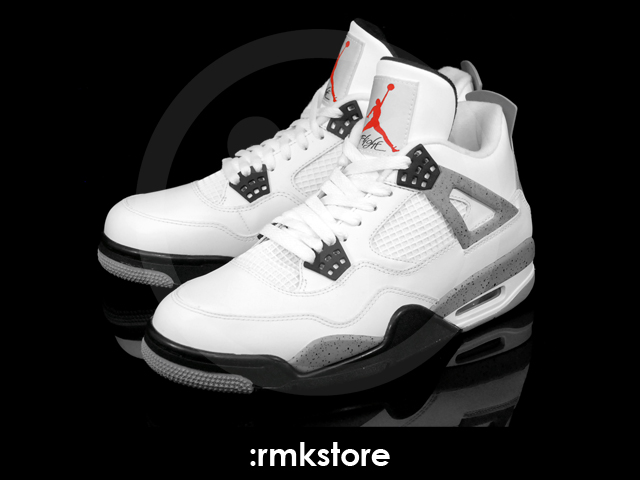 White Retro: Air Jordan IV Retro White/Cement