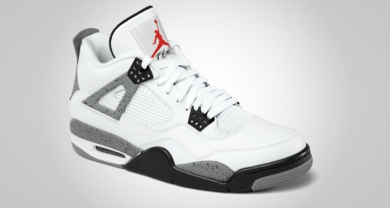 Air Jordan 4 Ciment Blanc Ebay