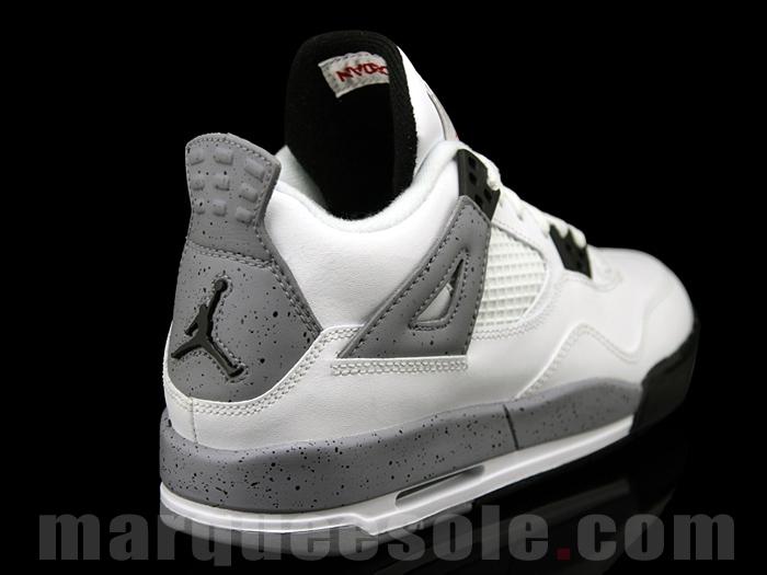 a4fe9f4ab7cc2d Air Jordan IV Retro White Cement Grey Release Info