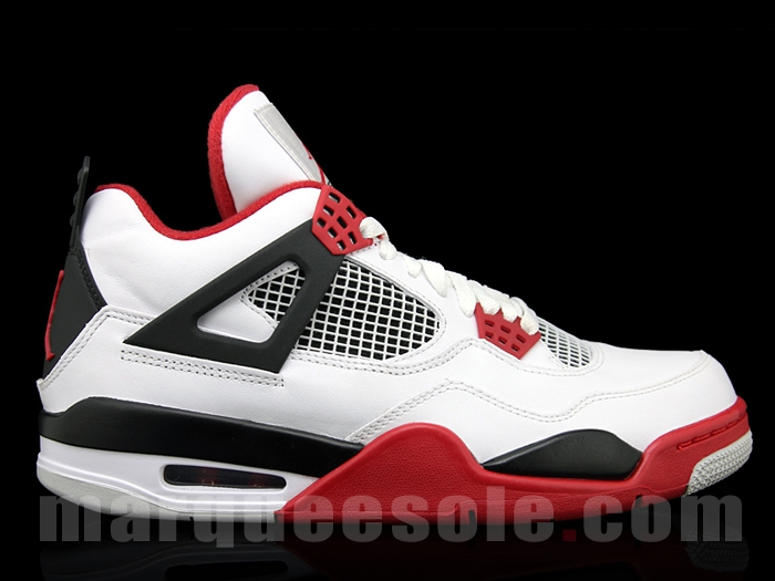 4016b054940 Air Jordan IV Retro White Fire Red-Black 2012