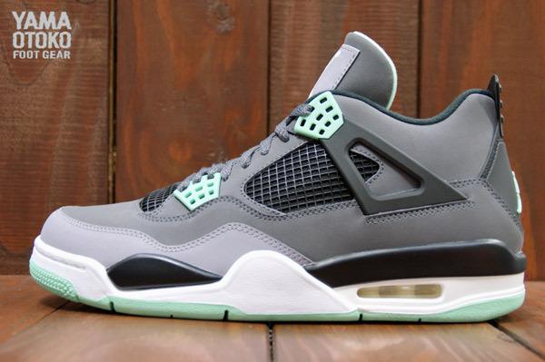 best website c31de 0771d Nike Air Jordan 4 Retro Green Glow Size 10.5 308497 033 IV Green Grey