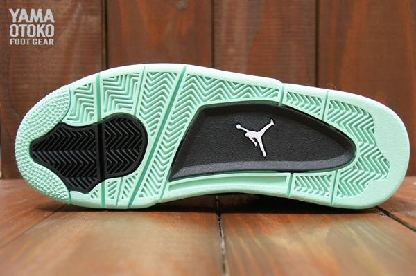 d8b48775486b Nike Air Jordan 4 Retro Green Glow Size 10.5 308497 033 IV Green Grey