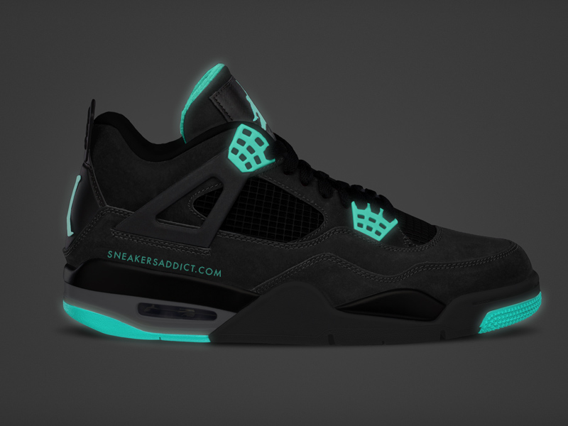 bc55ffd95fe1 Air Jordan 4 (IV) Retro Color  Dark Grey Green Glow-Cement Grey-Black  Style  308497-033. Release  11    2013. Price   160.00