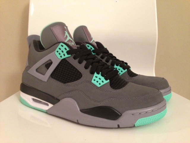 release date: f3546 638e5 Air Jordan 4 (IV) Retro Color  Dark Grey Green Glow-Cement Grey-Black  Style  308497-033. Release  08 17 2013. Price   160.00