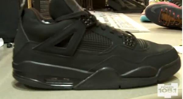 2006 Nike Air Jordan IV 4 Retro Black Cat Black Light Graphite – Size 9 0b887e36a