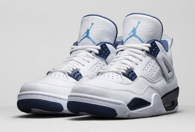 038be0822e4e93 Air Jordan 4 (IV) Retro LS Color  White Legend Blue-Midnight Navy Style   314254-107. Release  01 10 2015. Price   190.00