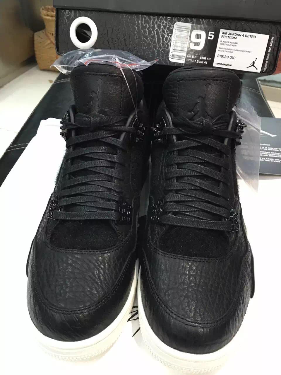b95f15a6aa5d Air Jordan 4 Retro Premium Black Release Info