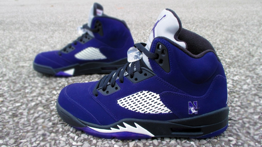 "online store fe44b 8c630 Air Jordan 5 ""NU Wildcats"" by Mr. Exclusive Customs"