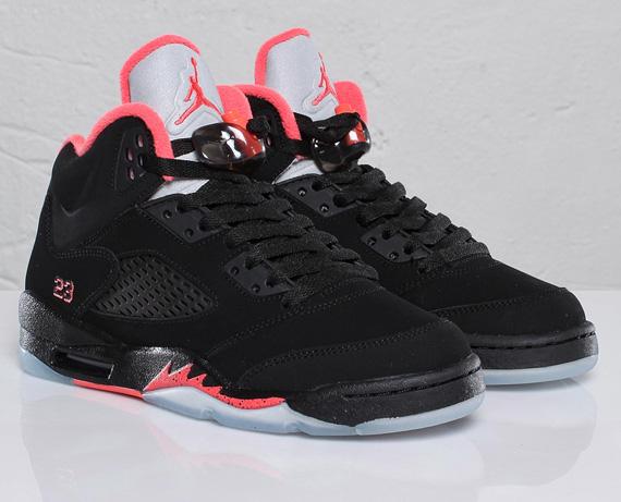 air jordan retro 5 black and red